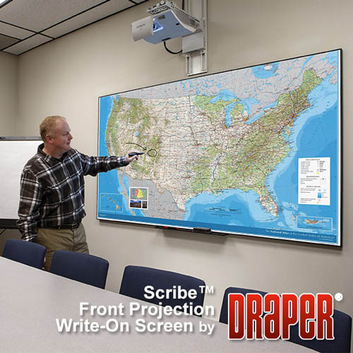 Draper 800318 Scribe-Write-On Fixed Projector Screen 94 diag. (46.12x82.12) - HDTV[16:9]