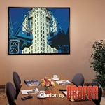 Draper 253035 ShadowBox Clarion 90 diag. (54x72) - Video [4:3] - Pearl White CH1900V 1.9 Gain