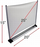 Mustang Tabletop Mini Projector Screen 25 diag. (15x20) - Video [4:3] - 1.5 Gain