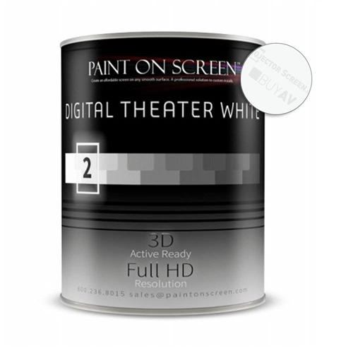 Projector screen paint digital theater white gallon g002 for Paint projector screen