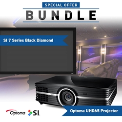 Optoma UHD65 SI Black Diamond Screen