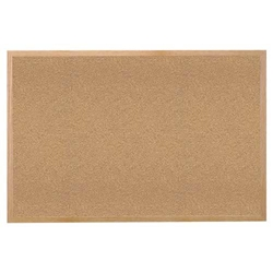 "Ghent 24"" x 18"" Wood Frame Natural Cork Tackboard"