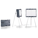 Ghent Attivo Presentation Easel - w/Built-In Whiteboard and Carrying Case
