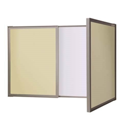 Ghent VisuALL PC - Beige Fabric Tackboard Outside with Acrylate Whiteboard Inside