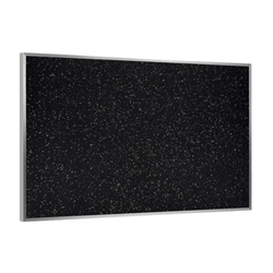 "Ghent 120.5"" x 48.5"" Aluminum Frame Recycled Rubber Tackboard - Tan Speckled"
