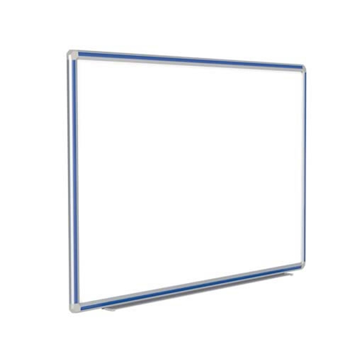 "Ghent 48"" x 36"" DecoAurora Aluminum Frame Porcelain Magnetic Whiteboard - Royal Blue Trim"
