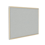 "120"" x 48"" DecoAurora Aluminum Frame Gray Vinyl Tackboard - Yellow Trim"