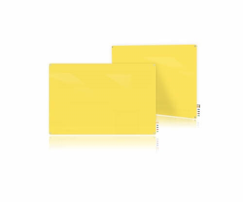 Ghent Ghent HMYRN23YW 2'x3' Harmony Glass Board- Radius Corners - Yellow - 4 Markers and Eraser
