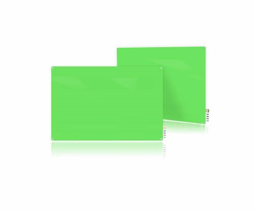 Ghent Ghent HMYRN44GN 4'x4' Harmony Glass Board- Radius Corners - Green - 4 Markers and Eraser