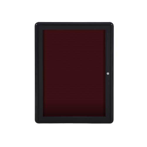 24 X 34 1 Door Ovation Letterboard Burgundy Black Frame