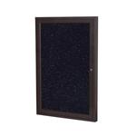 30 X 36 1 Door Bronze Aluminum Frame Enclosed Recycled Rubber