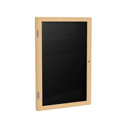 30 X 36 1 Door Wood Frame Oak Finish Enclosed Flannel Letterboard
