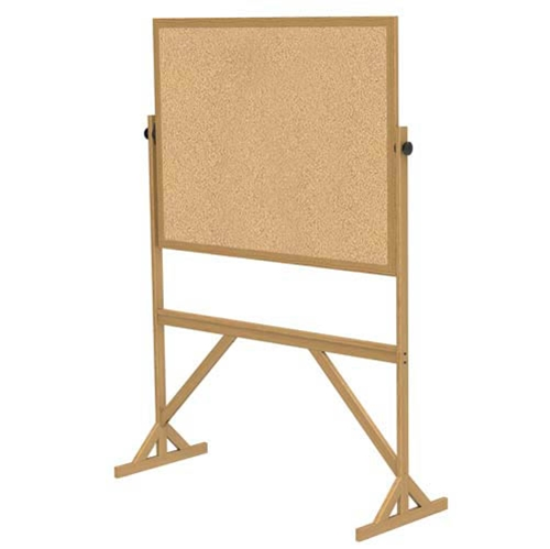 "Ghent 53.25"" x 72.125"" Wood Frame Reversible Natural Cork/Natural Cork"