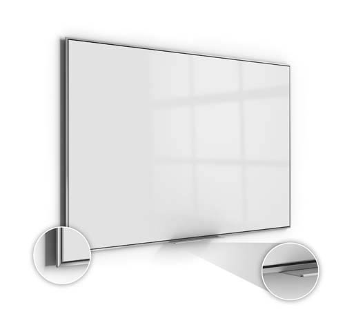 Ghent Ghent SIO48AM 47-5/8 x 95-5/8 Simplicity Magnetic Acrylite Surface Whiteboard-Aluminum Frame