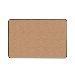 "Ghent 24"" x 18"" Gemini Natural Cork Tackboard, with a Hint of Color w/ Black Vinyl Frame - Red"
