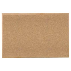 "Ghent 144.5"" x 48.5"" Wood Frame Natural Cork Tackboard"