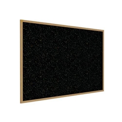 "Ghent 120.5"" x 48.5"" Wood Frame, Oak Finish Recycled Rubber Tackboard - Confetti"
