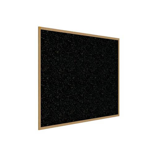 "Ghent 48.5"" x 48.5"" Wood Frame, Oak Finish Recycled Rubber Tackboard - Confetti"