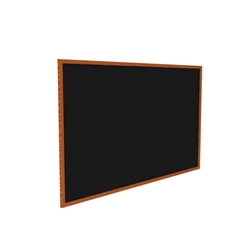 "Ghent 120.5"" x 48.5"" Wood Frame, Cherry Oak Finish Recycled Rubber Tackboard - Black"