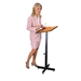 Portable Speakers' Stand with Adjustable Height in MediumOak - 70MO - OKS-70-MO