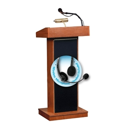 The Orator Lectern  with Headset Wireless mic(Wild Cherry)