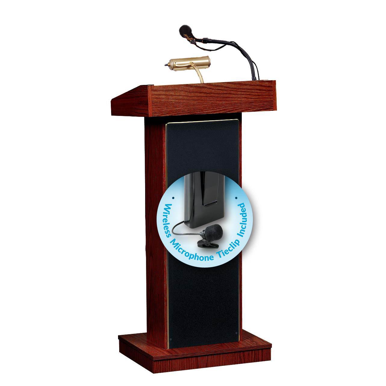 the orator lectern fixed height mahogany wireless tie