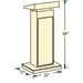 The Orator Lectern  with Handheld Wireless mic (Medium oak) - OKS-800X-MO/LWM5