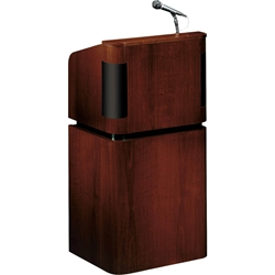 VENEER CONTEMPORARY TABLE LECTERN WITH SOUND AND BASE