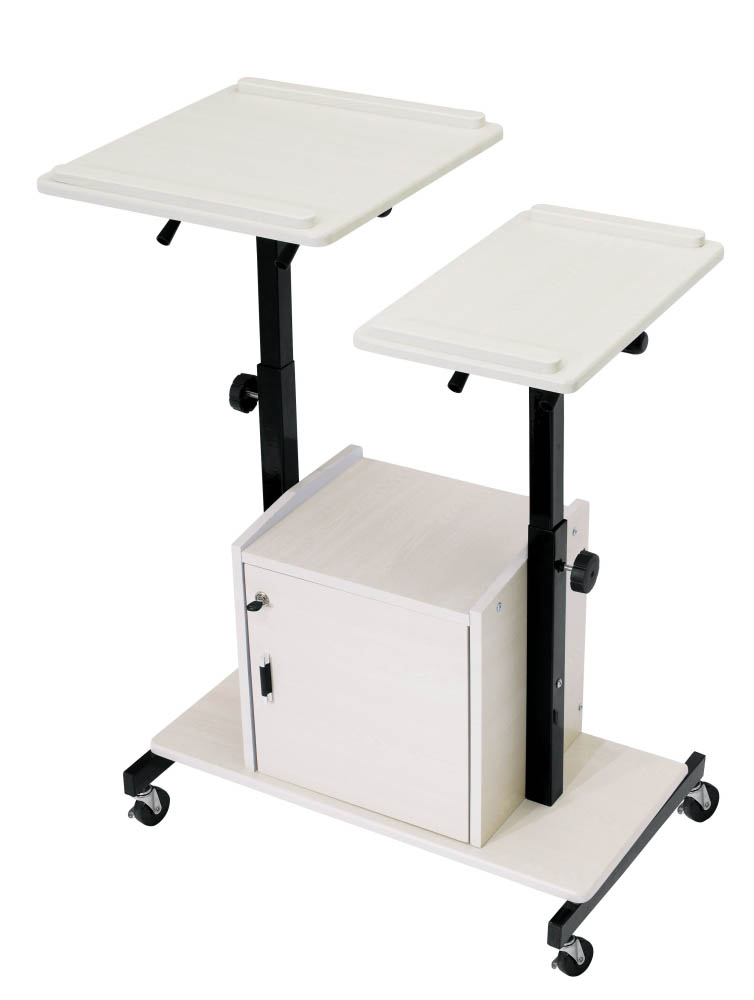 ... AV Multimedia Presentation Cart with Dual Height Adjustable Tops and Locking Cabinet - PRC-300 ...  sc 1 st  Projector Screen & AV Multimedia Presentation Cart with Dual Height Adjustable Tops and ...