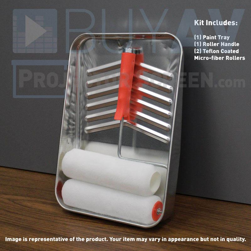 projector screen paint teflon coated micro fiber roller kit