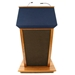 Patriot Plus with Sound Solid Hardwood Multimedia Lectern with Maple Finish/Blue Fabric - SS3045-MP-Blue