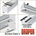 Draper 140005 Access/Series V 136 diag. (96x96) - Square [1:1] - Matt White XT1000V 1.0 Gain - Draper-140005-Black
