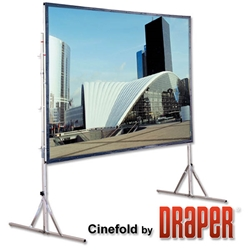 Draper 218193 Cinefold with Heavy-Duty Legs 106 diag. (52x92) - HDTV [16:9] - 1.0 Gain