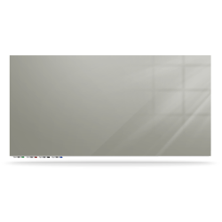 "Ghent ARIASM23GY Aria 2H x 3W Magnetic Low Profile 1/4"" Glassboard - Horizontal Gray"