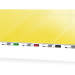 "Ghent ARIASM54YW Aria 5'H x 4'W Magnetic Low Profile 1/4"" Glassboard - Vertical Yellow - Ghent-ARIASM54YW"