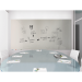"Ghent ARIASN54GY Aria 5'H x 4'W Low Profile 1/4"" Glassboard - Vertical Gray - 4 Markers and Eraser - Ghent-ARIASN54GY"