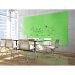 "Ghent ARIASM54GN Aria 5'H x 4'W Magnetic Low Profile 1/4"" Glassboard - Vertical Green - Ghent-ARIASM54GN"