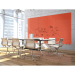 "Ghent ARIASM84PH Aria 8'H x 4'W Magnetic Low Profile 1/4"" Glassboard - Vertical Peach - Ghent-ARIASM84PH"