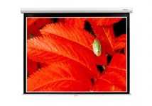 "Grandview CB-P100(169)WM5(SSW) Cyber Manual Screen - 100"" - 16:9 - WM5 - White Case w/ Slow Retraction"