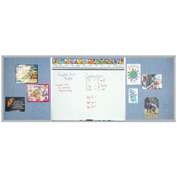 Best-Rite 408-6C-PM-X2 Combo-Rite Boards - Whiteboards &Tackboards