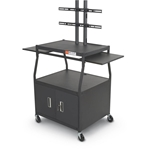 Balt 27531 Wide Body Flat Panel TV Cart with Cabinet