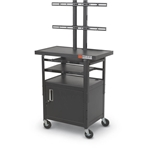 Balt 27530 Height Adjustable Flat Panel TV Cart