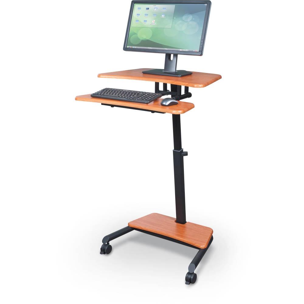 Balt 90459 Up Rite Workstation Mobile Adjule Sit And Stand Desk