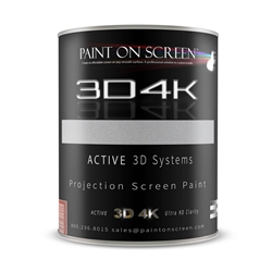 Projector Screen Paint - 3D4K Silverish Light Grey with 2.4 Gain-HD 1080P,3D Capable and 4K Ready-Gallon
