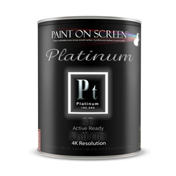 Projector Screen Paint - Platinum w/Silver and Diamond - 2.0 Gain - 3D Capable and 4K Ready - Gallon
