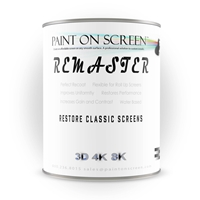 Projector Screen Paint - Remaster Vinyl Screen - Restore and Renew - Silver - Gallon