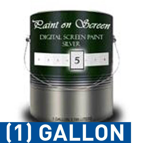 Paint on Screen Projector Screen Paint - Exterior S1 Screen Paint Silver-Gallon g005ex