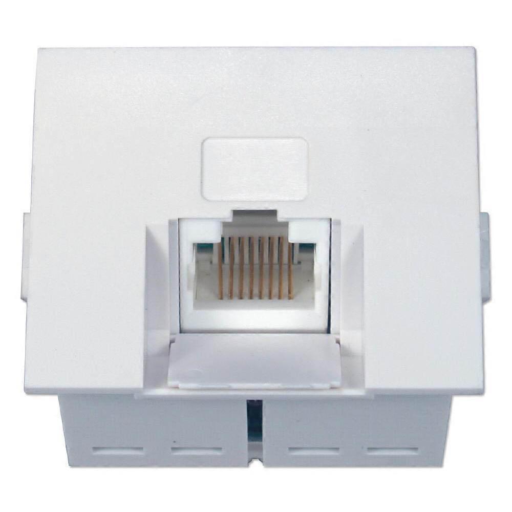 Cat5 Wall Plate Wiring Diagrams Amazoncom Rca Rj45 White Tph552r Electronics Qvs C5b R45 Single Angled Jack For Flexible Installation