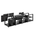 Salamander Designs Oslo 245 Cabinet for integrated Hisense UST Projector - Black Glass - X/HSE245OS/BG - Salamander-X/HSE245OS/BG