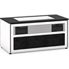 Salamander Designs Siena 229S Cabinet for integrated LG UST Projector - Gloss White, Black Top - X/LG1/229S/GW/BK